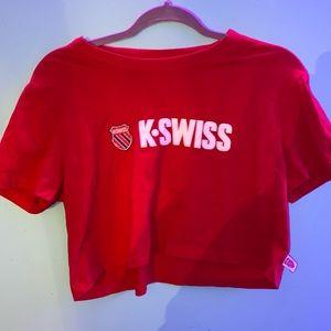 Red K-Swiss crop top